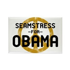 Seamstress for Obama Rectangle Magnet