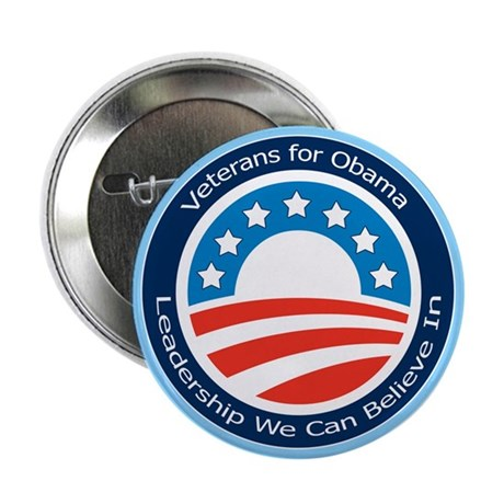 "Veterans for Obama 2.25"" Button (100 pack)"