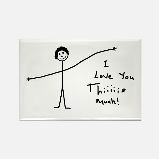 'I Love You' Rectangle Magnet
