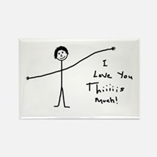 'I Love You' Rectangle Magnet (10 pack)