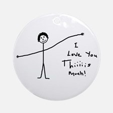 'I Love You' Ornament (Round)
