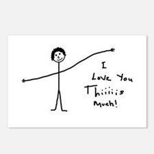 'I Love You' Postcards (Package of 8)