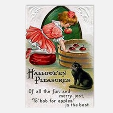Halloween Bobbing For Apples Postcards (Package of