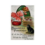 Black cat locker halloween Magnets