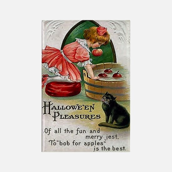 Halloween Bobbing For Apples Rectangle Magnet