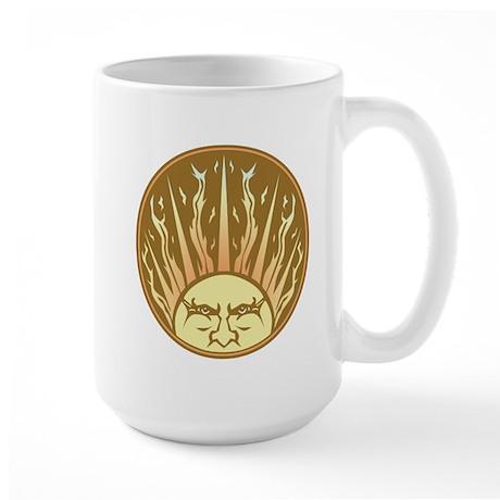 Flaming Sun Large Mug