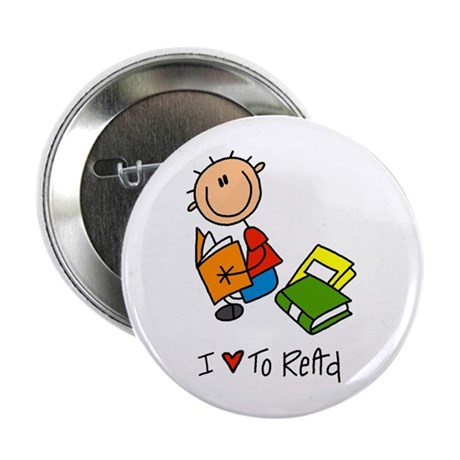 """I Love to Read! 2.25"""" Button"""