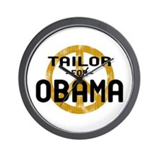 Tailor for Obama Wall Clock