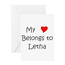 Funny My heart belongs marcelo Greeting Card