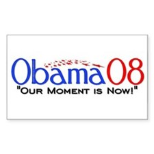 """Obama Now"" Rectangle Decal"