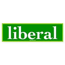 Green Liberal Bumper Bumper Sticker