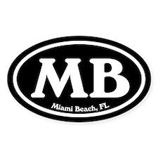 Miami Beach MB Euro Oval Oval Decal