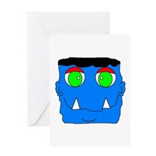 MONSTER HALLOWEEN Greeting Card