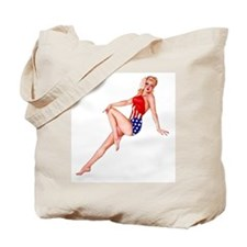 Patriotic Pin Up Girl Tote Bag ~ on BOTH sides!