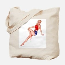 Patriotic Pin Up Girl Tote Bag ~ on BOTH sides!