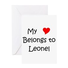 Cute My heart belongs leonel Greeting Card