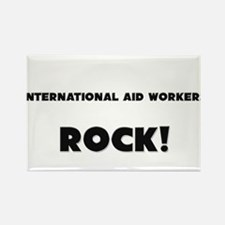 International Aid Workers ROCK Rectangle Magnet