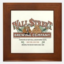 Wall Street Brewing Company Framed Tile