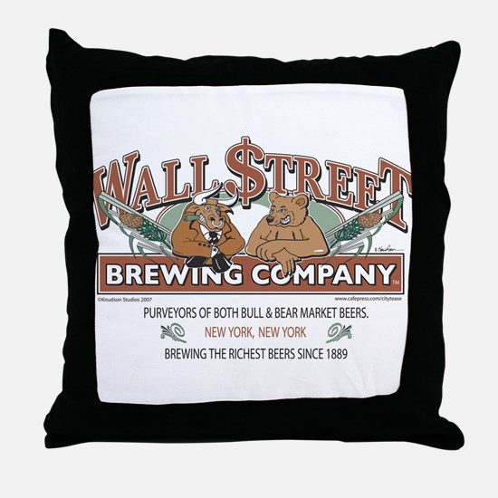 Wall Street Brewing Company Throw Pillow