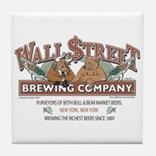 Wall Street Brewing Company Tile Coaster