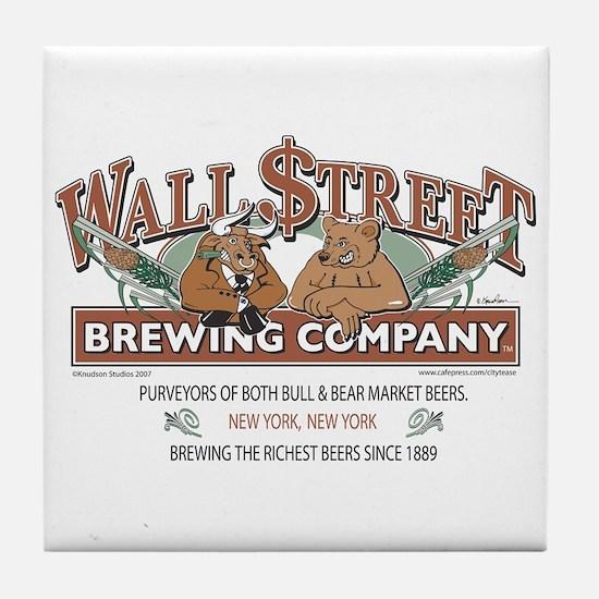 Wall Street Brewing Company Tile Coaster