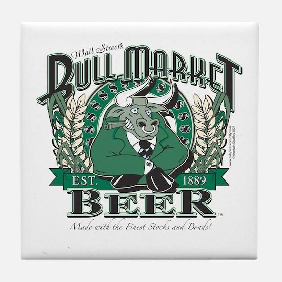 Bull Market Beer Tile Coaster