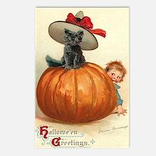 Halloween Pumpkin Surprise Cat Postcards (Package