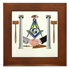 Masonic Brothers Framed Tile