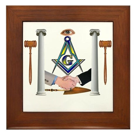 Masonic Brothers Framed Tile