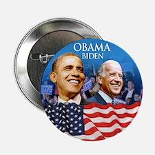 """Obama-Biden Flag Blue Back 2.25"""" Button"""