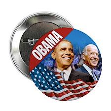 "Obama-Biden Flag Red Band 2.25"" Button"