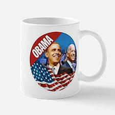 Obama-Biden Flag Red Band Mug