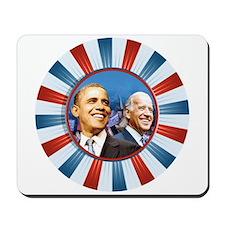 Obama-Biden Bunting Badge Mousepad