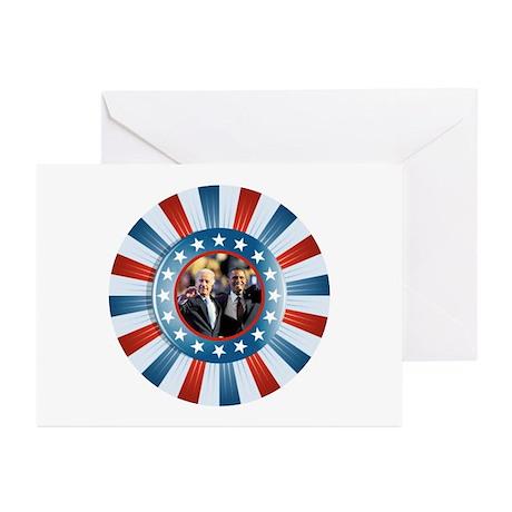 Obama-Biden Star Bunting Greeting Cards (Pk of 10)