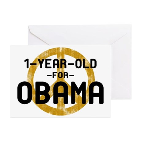 1-Year-Old for Obama Greeting Cards (Pk of 10)