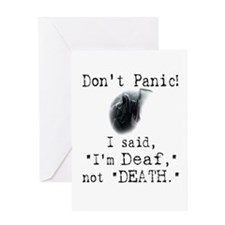 "I'm ""Deaf"" Not ""Death."" Greeting Card"