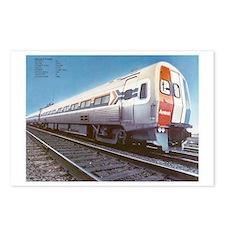 Amtrak Budd Metroliners Postcards (Package of 8)