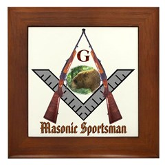 Masonic Sportsman Framed Tile