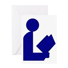 Blue Tinfoil Library Logo Greeting Card