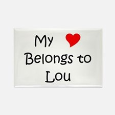 Cute My name lou Rectangle Magnet