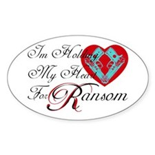Holding Heart 4 Spunk Ransom Oval Decal