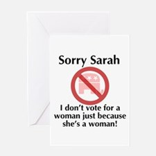 Sorry Sarah Greeting Card