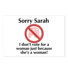 Sorry Sarah Postcards (Package of 8)