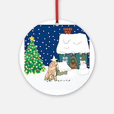 Christmas Lights Shar Pei Ornament (Round)