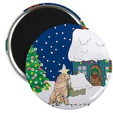 Christmas Lights Shar Pei Magnet