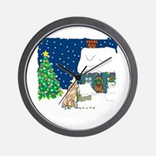 Christmas Lights Shar Pei Wall Clock