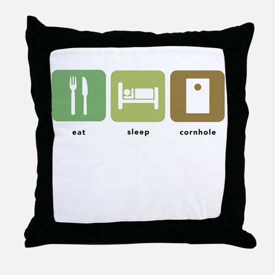 Eat Sleep Cornhole Throw Pillow