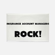 Insurance Account Managers ROCK Rectangle Magnet