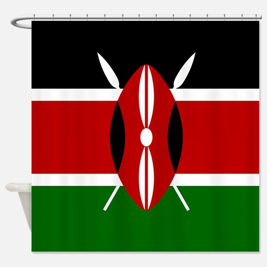 flag kenya shower curtain