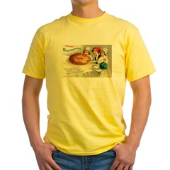 Thanksgiving Pie Yellow T-Shirt